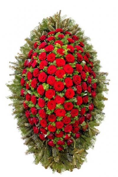 Венок из живых цветов